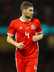 October 11, 2018 - Cardiff City, Walles, United Kingdom - Cardiff, Wales October 11, ..Ben Davies of Wales during Exhibition Match between Wales and Spain at Principality stadium, Cardiff City, on 11 Oct  2018. (Credit Image: © Action Foto Sport/NurPhoto via ZUMA Press)