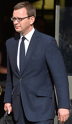 Image ©Licensed to i-Images Picture Agency. 24/06/2014. <br /> <br /> Former News of The World Editor Andy Coulson leaves The Old Bailey, London, UK, after being found guilty of conspiracy to hack phones.<br /> <br /> Tuesday 24th of June 2014<br /> Picture by Ben Stevens / i-Images