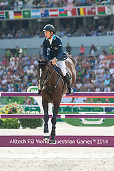 Rolf Goran Bengtsson, (SWE), Casall Ask - Show Jumping Final Four - Alltech FEI World Equestrian Games™ 2014 - Normandy, France.<br /> © Hippo Foto Team - Jon Stroud<br /> 07-09-14