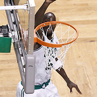 07 June 2012: Boston Celtics power forward Kevin Garnett (5) dunks the ball during first half of Game 6 of the Eastern Conference Finals playoff series, Heat at Celtics at the TD Banknorth Garden, Boston, Massachusetts, USA.