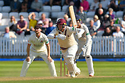 Jamie Overton of Somerset sets off for a quick single during the Specsavers County Champ Div 1 match between Somerset County Cricket Club and Lancashire County Cricket Club at the Cooper Associates County Ground, Taunton, United Kingdom on 5 September 2018.