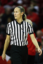 07 December 2012:  Referee Lisa Mattingly during an NCAA women's basketball game between the Northwestern Wildcats and the Illinois Sate Redbirds at Redbird Arena in Normal IL