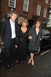 ZAC GOLDSMITH, LADY ANNABEL GOLDSMITH and SHEHERAZADE GOLDSMITH at the annual Sir David & Lady Carina Frost Summer Party in Carlyle Square, London SW3 on 5th July 2007.<br />