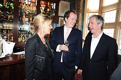 Left to right, TOM & SARA PARKER BOWLES and BILL PRINCE Deputy Editor of GQ at a party to celebrate the publication of Imperial Bedrooms by Bret Easton Ellis held at Mark's Club, 46 Charles Street, London W1 on 15th July 2010.