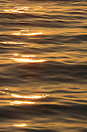 Golden ripples on Sea of Cortez at sunrise, Baja California Sur, Mexico
