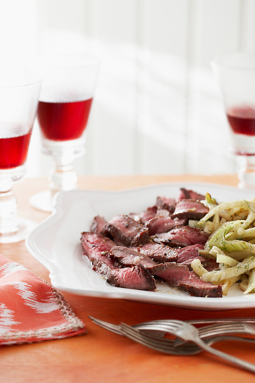 15-Minute Coastal Recipe: Pan Seared Steak with Fennel-Lemon Butter