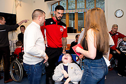 Marlon Pack of Bristol City meets children and families during Bristol City's visit to the Children's Hospice South West at Charlton Farm - Mandatory by-line: Robbie Stephenson/JMP - 21/12/2016 - FOOTBALL - Children's Hospice South West - Bristol , England - Bristol City Children's Hospice Visit