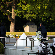 HIROSHIMA, JAPAN - MAY 27 : U.S. President Barack Obama lay a wreath at the cenotaph in the Hiroshima Peace Memorial Park in Hiroshima, Japan on May 27, 2016. US President Barack Obama is the first American president to visit Hiroshima after United States of America dropped Atomic bomb in Hiroshima on August 6, 1945.<br /> <br /> Photo: Richard Atrero de Guzman<br /> <br />  <br /> <br /> <br /> <br /> <br /> <br /> Photo: Richard Atrero de Guzman