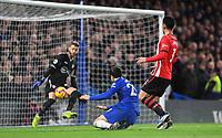 Football - 2018 / 2019 Premier League - Chelsea vs Southampton<br /> <br /> Chelsea's Alvaro Morata misses a clear opportunity at Stamford Bridge.<br /> <br /> COLORSPORT/ASHLEY WESTERN
