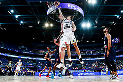 Ziga Dimec of Slovenia and Vlatko Cancar of Slovenia during basketball match between National Teams of Slovenia and France at Day 7 of the FIBA EuroBasket 2017 at Hartwall Arena in Helsinki, Finland on September 6, 2017. Photo by Vid Ponikvar / Sportida