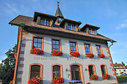Town hall (Rathaus) in a small village in South Black Forest near Todtnau, Baden-Wurttemberg, Germany