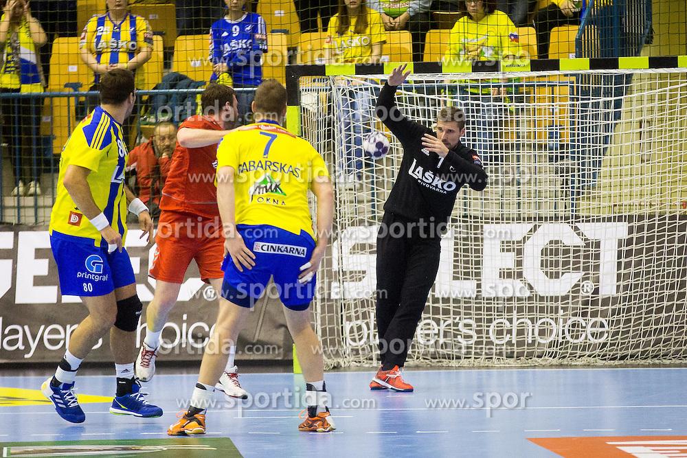 Urban Lesjak of RK Celje Pivovarna Lasko during handball match between RK Celje Pivovarna Lasko (SLO) and HC Meshkov Brest (BLR) in Group phase of EHF Men's Champions League 2016/17, on November 27, 2016 in Arena Zlatorog, Celje, Slovenia. Photo by Ziga Zupan / Sportida