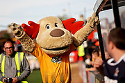 Marvin the Moose, the Cambridge Utd mascot before the EFL Sky Bet League 2 match between Cambridge United and Milton Keynes Dons at the Cambs Glass Stadium, Cambridge, England on 13 October 2018.
