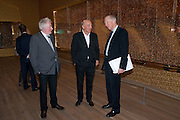 HUGH HUDSON; PETER SIMON; LORD JACOB ROTHSCHILD, Damien Hirst, Tate Modern: dinner. 2 April 2012.