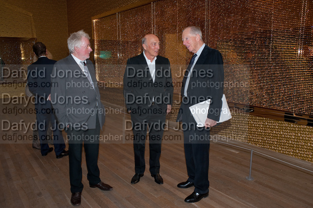 HUGH HUDSON; PETER SIMON; LORD JACOB ROTHSCHILD, Damien Hirst, Tate Modern: dinner. 2 April 2012.
