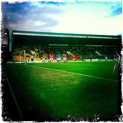 McDiarmid Park is a football stadium in Perth, Scotland, the home ground of St. Johnstone F.C..Hipstamatic images taken on an Apple iPhone..©Michael Schofield.