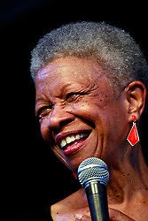27 April 2013. New Orleans, Louisiana,  USA. .New Orleans Jazz and Heritage Festival. Germaine Bazzle, a true Jazz legend..Photo; Charlie Varley.