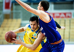 Simo Atanackovic of Hopsi Polzela during basketball match between KK Hopsi Polzela and KK Helios Suns in semifinal of Spar Cup 2018/19, on February 16, 2019 in Arena Bonifika, Koper / Capodistria, Slovenia. Photo by Vid Ponikvar / Sportida