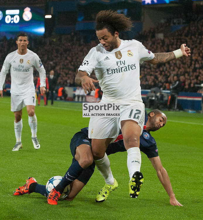 Lucas (Paris Saint-Germain) and Marcelo (Real Madrid)