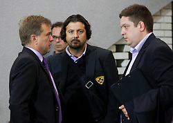 Bojan Ban, Zlatko Zahovic after winning the football match between NK Maribor and NK Celje in final of Slovenian Cup 2013 on May 29, 2013 in Stadium Bonifika, Koper, Slovenia. Maribor defeated Celje 1-0 and became Slovenian Cup Champion 2013. (Photo By Vid Ponikvar / Sportida)
