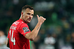 February 3, 2019 - Lisbon, Portugal - Benfica's Suisse forward Haris Seferovic celebrates during the Portuguese League football match Sporting CP vs SL Benfica at Alvalade stadium in Lisbon, Portugal on February 3, 2019. (Credit Image: © Pedro Fiuza/ZUMA Wire)