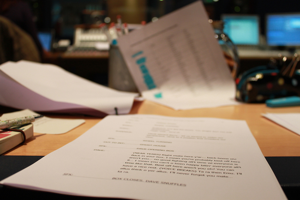 Behind-the-scenes of the recording of BBC Radio 4's Shedtown, by Woolyback Productions.<br />