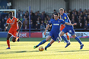 AFC Wimbledon midfielder Anthony Hartigan (8) dribbling during the EFL Sky Bet League 1 match between AFC Wimbledon and Shrewsbury Town at the Cherry Red Records Stadium, Kingston, England on 3 November 2018.