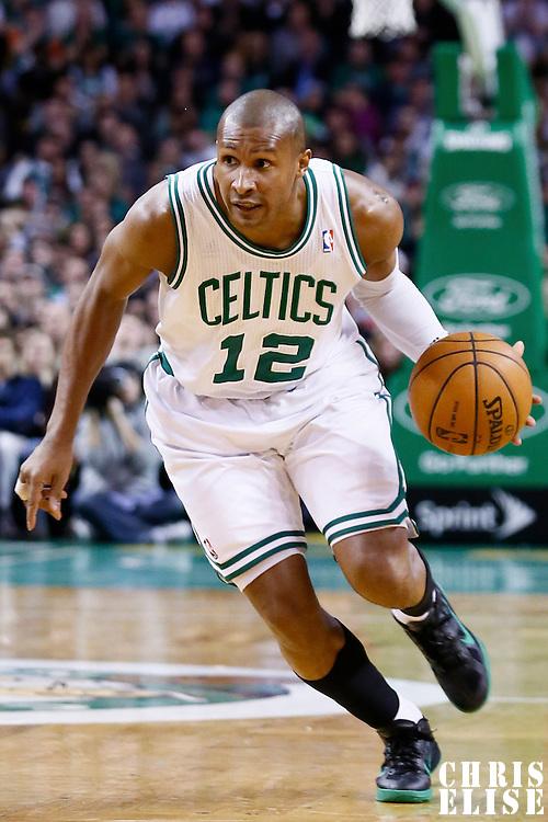 14 January 2013: Boston Celtics shooting guard Leandro Barbosa (12) drives to the basket during the Boston Celtics 100-89 victory over the Charlotte Bobcats at the TD Garden, Boston, Massachusetts, USA.
