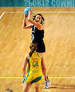 Katrina Grant (NZ)<br /> Netball - 2009 Holden International Test Series<br /> Australian Diamonds v New Zealand Silver Ferns<br /> Wednesday 9 September 2009<br /> Hisense Arena, Melbourne AUS<br /> © Sport the library / Jeff Crow