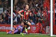 AFC Bournemouth's striker Glenn Murray scores during the Barclays Premier League match between Bournemouth and Watford at the Goldsands Stadium, Bournemouth, England on 3 October 2015. Photo by Mark Davies.