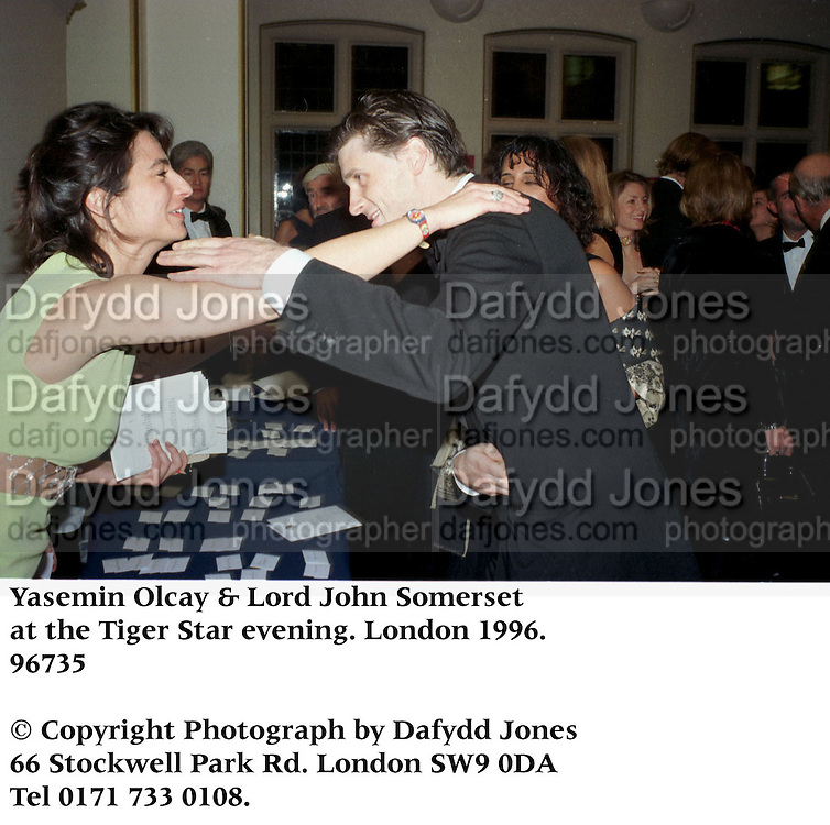Yasemin Olcay & Lord John Somerset at the Tiger Star evening. London 1996.<br />