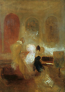 Music Party, East Cowes Castle'  c1835:  Joseph Mallord Willliam Turner (1775-1851) English artist. Oil on canvas.