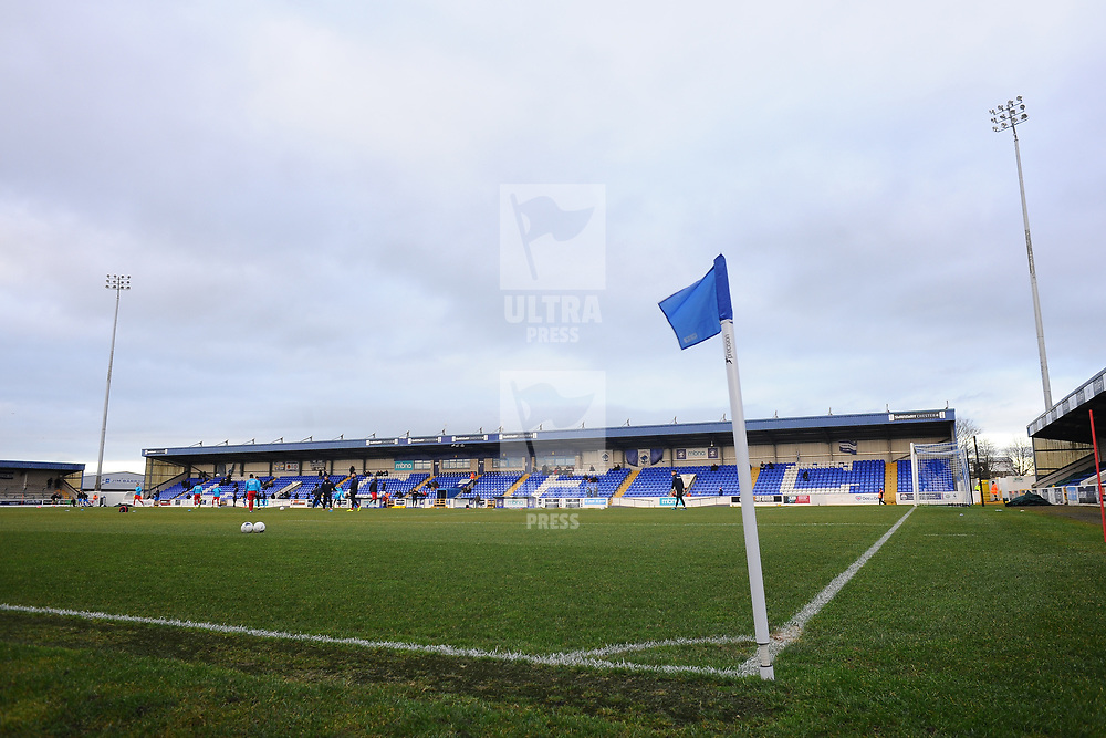 TELFORD COPYRIGHT MIKE SHERIDAN A general view of the Deva Stadium during the Vanarama Conference North fixture between AFC Telford United and Chester at the 1885 Arena Deva Stadium on Saturday, December 21, 2019.<br />