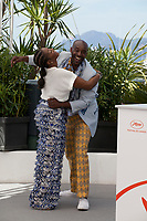 Actors Yolonda Ross and Rob Morgan at Bull film photo call at the 72nd Cannes Film Festival, Thursday 16th May 2019, Cannes, France. Photo credit: Doreen Kennedy