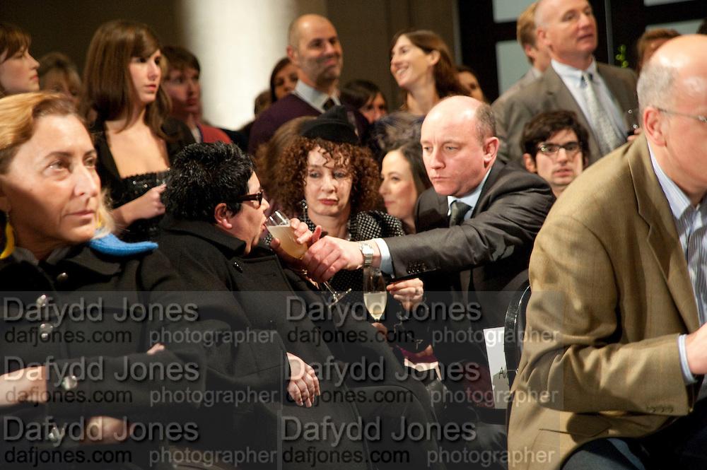 ANGELA DE LA CRUZ; GERRY IVERS;, Turner Prize 2010. Tate Britain. Millbank. London. 6 December 2010. -DO NOT ARCHIVE-© Copyright Photograph by Dafydd Jones. 248 Clapham Rd. London SW9 0PZ. Tel 0207 820 0771. www.dafjones.com.