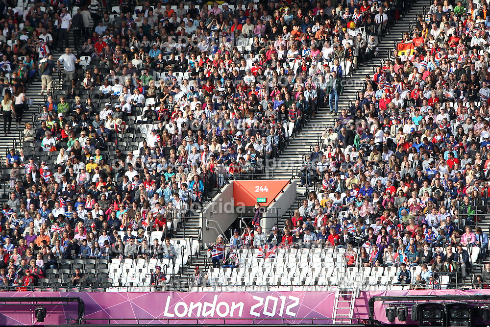 Olympic Games London 2012.Athletics - Fans Olympic Stadium - stands.© pixathlon