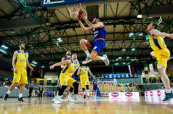 Miha Fon of Helios Suns during basketball match between KK Hopsi Polzela and KK Helios Suns in semifinal of Spar Cup 2018/19, on February 16, 2019 in Arena Bonifika, Koper / Capodistria, Slovenia. Photo by Vid Ponikvar / Sportida