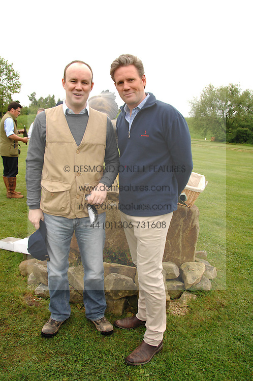 Left to right, LORD ALEXANDER HOPE and RUPERT KENYON-SLANEY at a charity shoot in aid of the charity Save The Rhino held at the West London Shooting School, Northolt, Middlesex on 30th May 2008.<br />