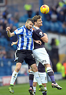Daniel Putil of Sheffield Wednesday goes up for the ball with Chris Martin of Derby County during the Sky Bet Championship match at Hillsborough, Sheffield<br /> Picture by Graham Crowther/Focus Images Ltd +44 7763 140036<br /> 06/12/2015