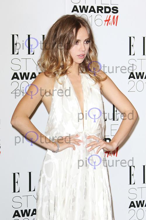 Suki Waterhouse, ELLE Style Awards 2016, Millbank London UK, 23 February 2016, Photo by Richard Goldschmidt