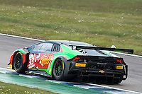 Phil Keen (GBR) / Jon Minshaw (GBR)  #33 Barwell Motorsport  Lamborghini Huracan GT3  Lamborghini 5.2L V10 British GT Championship at Rockingham, Corby, Northamptonshire, United Kingdom. April 30 2016. World Copyright Peter Taylor/PSP.