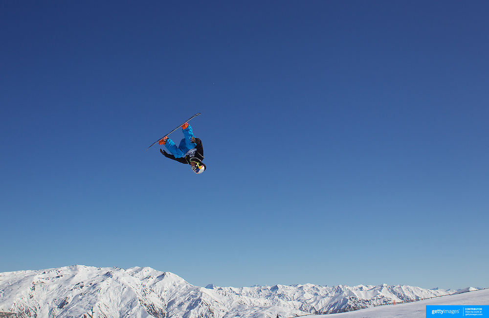 Dimi De Jong, The Netherlands, in action during the Men's Snowboard Slopestyle competition at Snow Park, New Zealand during the Winter Games. Wanaka, New Zealand, 21st August 2011. Photo Tim Clayton