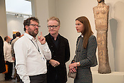 IVAN WIRTH; DAVID ROBERTS; INDRE SERPYTYTE; , Opening of Frieze Masters. Regent's Park. London. 15 October 2013.