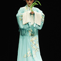 VENICE, ITALY - JULY 29:  Zhang Zhengyao of the Kunqu Opera of Jiangsu performs at Teatro Goldoni on July 29, 2011 in Venice, Italy. Kunqu Opera, now under the Unesco patronage, originated in the Jiangsu province, dating back to the early Ming dinasty. With a history of more than six hundred years, Kunqu Opera is a traditional type of Chinese drama and one of the most ancient opera forms in China and in the world.