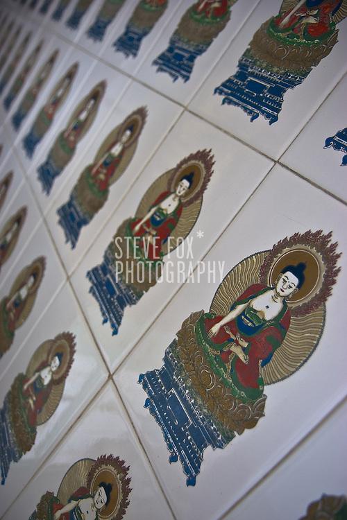 Decorative tiles, Kek Lok Si Temple, Penang, Malaysia