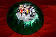 ROTTERDAM - Sporten tijdens de Genreation Games op het schouwburgplein in rotterdam tijdens de Olympic. COPYRIGHT ROBIN UTRECHT FOTOGRAFIE