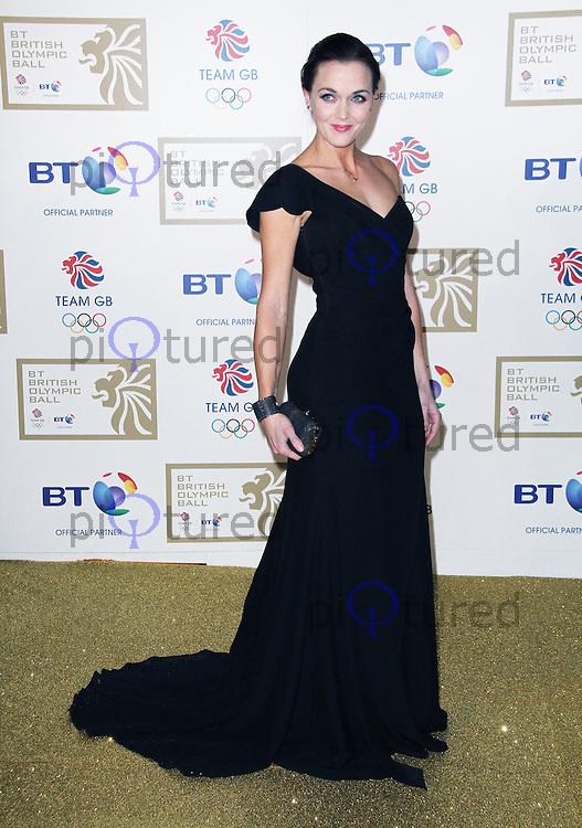 LONDON - NOVEMBER 30: Victoria Pendleton attended the British Olympic Ball at the Grosvenor House Hotel, London, UK. November 30, 2012. (Photo by Richard Goldschmidt)