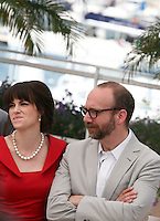 Actor Paul Giamatti and Actress Emily Hampshire Cosmopolis photocall at the 65th Cannes Film Festival France. Cosmopolis is directed by David Cronenberg and based on the book by writer Don Dellilo.  Friday 25th May 2012 in Cannes Film Festival, France.