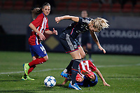 Olympique Lyonnais´s Henry during UEFA Women´s Champions League soccer match between Atletico de Madrid and Olympique Lyonnais, in Madrid, Spain. November 11, 2015. (ALTERPHOTOS/Victor Blanco)