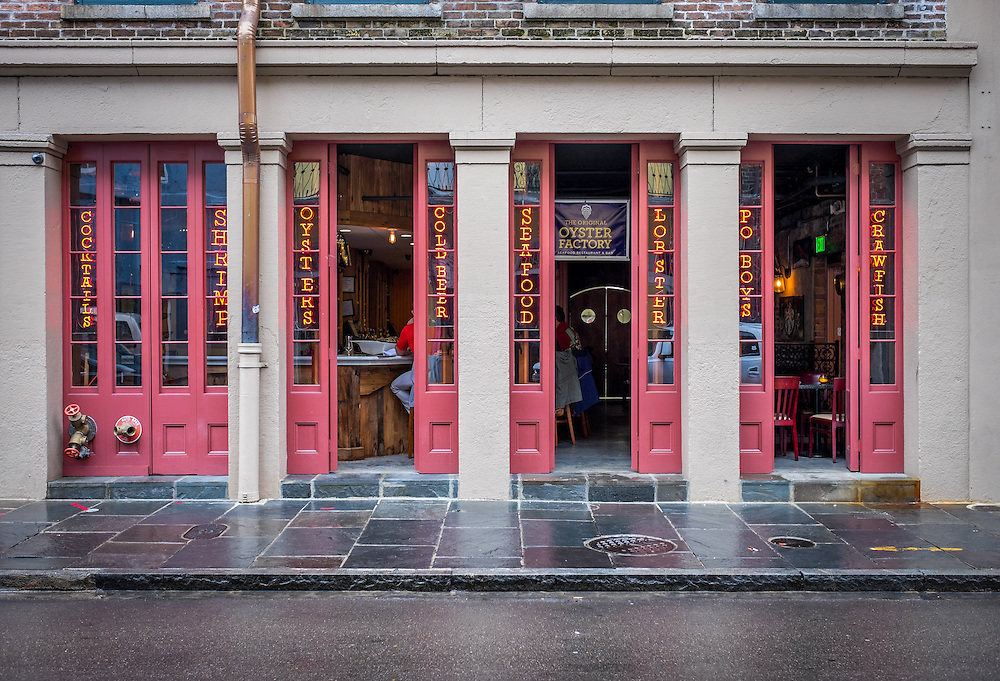 NEW ORLEANS - CIRCA FEBRUARY 2014: Facade of typical restaurant in the French Quarter in New Orleans in Louisiana.